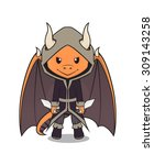 vector mascot of a cute dragon... | Shutterstock .eps vector #309143258