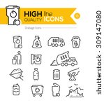 garbage line icons series | Shutterstock .eps vector #309147080