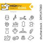 sewing line icons series | Shutterstock .eps vector #309147083