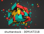 abstract 3d rendering of... | Shutterstock . vector #309147218