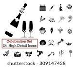 set of 24 celebration icons in...