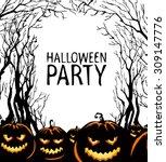 halloween background | Shutterstock .eps vector #309147776