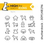 dog line icons series | Shutterstock .eps vector #309148196