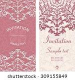 set of vintage invitation cards ... | Shutterstock .eps vector #309155849