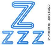 blue line z letter logo design...