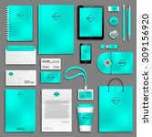 aqua corporate identity... | Shutterstock .eps vector #309156920