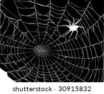 illustration with spider web... | Shutterstock .eps vector #30915832