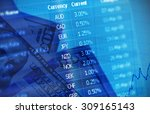 collage for  financial market... | Shutterstock . vector #309165143