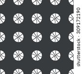 basketball pattern | Shutterstock . vector #309172190