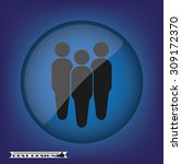 three people | Shutterstock .eps vector #309172370