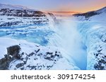 The Gullfoss Falls In Iceland...