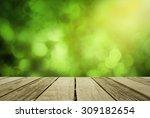 perspective wood over blur... | Shutterstock . vector #309182654