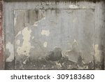cracked concrete vintage wall... | Shutterstock . vector #309183680
