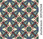 vector seamless pattern ... | Shutterstock .eps vector #309196568