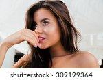 closeup portrait of a cute... | Shutterstock . vector #309199364