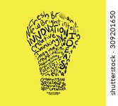 creativity creative innovative... | Shutterstock .eps vector #309201650