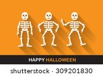 halloween poster  banner or... | Shutterstock .eps vector #309201830