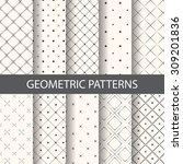 10 different rhombus patterns ... | Shutterstock .eps vector #309201836