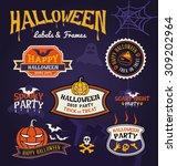 set of halloween party labels... | Shutterstock .eps vector #309202964