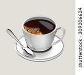 illustration of cup of coffee | Shutterstock . vector #309206624