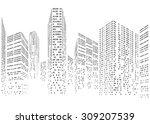 binary code in form of...   Shutterstock .eps vector #309207539
