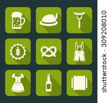 illustration icons of... | Shutterstock .eps vector #309208010