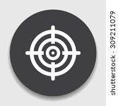 target aim symbol icon | Shutterstock .eps vector #309211079