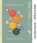 web template for vertical... | Shutterstock .eps vector #309211583