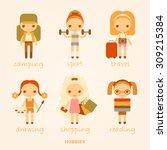 vector cartoon illustrations of ... | Shutterstock .eps vector #309215384