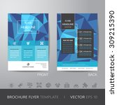 polygon business brochure flyer ... | Shutterstock .eps vector #309215390