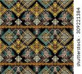 ethnic boho seamless pattern.... | Shutterstock .eps vector #309221384