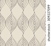 seamless pattern  floral... | Shutterstock .eps vector #309227099