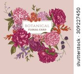 beautiful vintage floral... | Shutterstock .eps vector #309227450