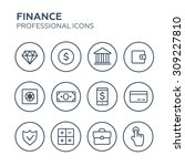 finance icons   Shutterstock .eps vector #309227810