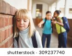 sad pupil being bullied by... | Shutterstock . vector #309237740