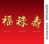 golden chinese good luck... | Shutterstock .eps vector #309246350
