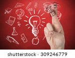 fingers posed as students... | Shutterstock . vector #309246779