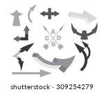 black white arrows set