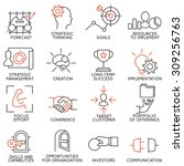 vector set of 16 icons related... | Shutterstock .eps vector #309256763