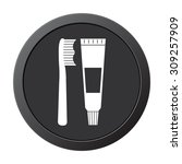 toothbrush and toothpaste   ... | Shutterstock .eps vector #309257909