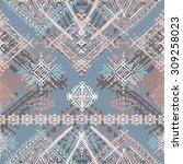 ethnic boho seamless pattern....   Shutterstock .eps vector #309258023