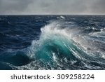 Sea Wave In The Indian Ocean