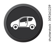 car    vector icon on a grey... | Shutterstock .eps vector #309261239