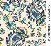 pattern paisley   Shutterstock .eps vector #309262640