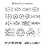 vintage design elements and... | Shutterstock .eps vector #309266804