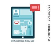 dental electronic medical card...   Shutterstock .eps vector #309267713