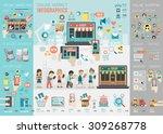 online market infographic set... | Shutterstock .eps vector #309268778