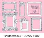 set of vector hand drawn... | Shutterstock .eps vector #309274109