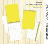 template notepad design. cover... | Shutterstock .eps vector #309274760