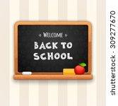 welcome back to school written... | Shutterstock .eps vector #309277670